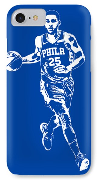 b7b52b34e6e Philadelphia 76ers iPhone 8 Case - Ben Simmons Philadelphia 76ers T Shirt  Apparel Pixel Art 3