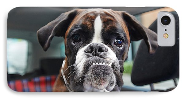 Puppies iPhone 8 Case - Boxer Dog by Onixxino