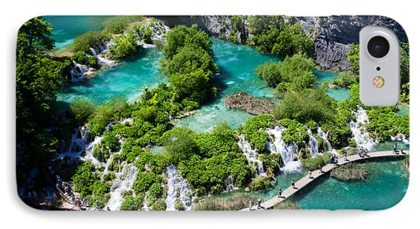 Beautiful Nature iPhone 8 Case - Breathtaking View In The Plitvice Lakes by Royalty Stock Photos Hq