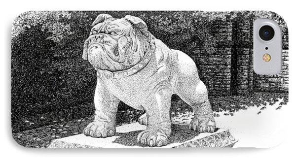 bfbab53b92dc24 Stephanie Butler iPhone 8 Case - Butler Bulldog Statue