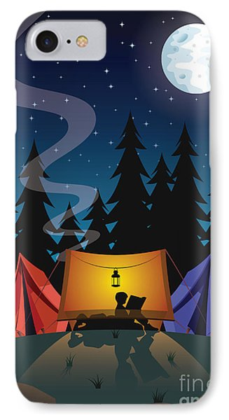 Beauty In Nature iPhone 8 Case - Camping by Nikola Knezevic