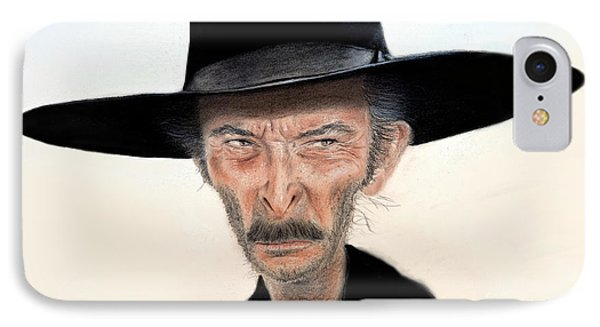 a4b77d42c7089 Spaghetti Western iPhone 8 Case - Caricature Of Lee Van Cleef As Angel Eyes  In The