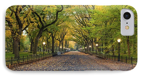 Beauty In Nature iPhone 8 Case - Central Park. Image Of  The Mall Area by Rudy Balasko
