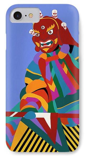 iPhone 8 Case - Cham Dancer Wrathful Deity by Synthia SAINT JAMES