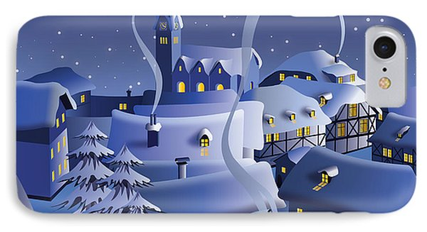 Beauty In Nature iPhone 8 Case - Christmas Night by Nikola Knezevic