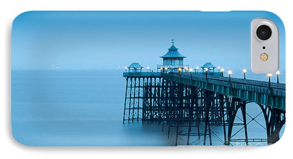 England iPhone 8 Case - Cleve Don Pier, Early Morning by Edmond Holland