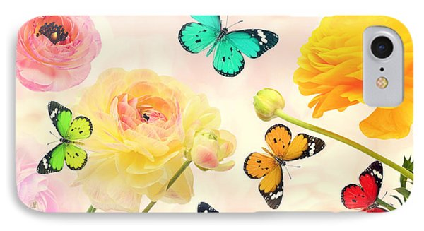 Collage iPhone 8 Case - Colorful Beautiful Flowers And by Protasov An