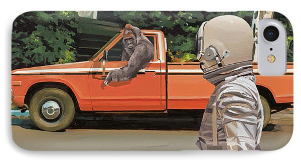 Truck iPhone 8 Case - Decline Of The Planet Of The Apes by Scott Listfield