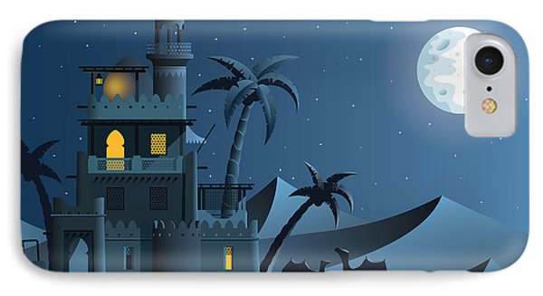 Egyptian iPhone 8 Case - Desert Oasis In The Night by Nikola Knezevic