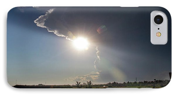 Nebraskasc iPhone 8 Case - Dying Nebraska Thunderstorms At Sunset 002 by NebraskaSC