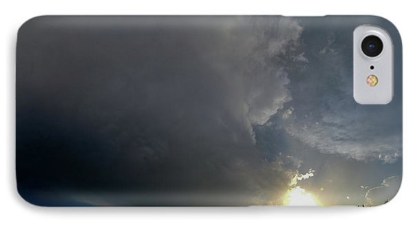 Nebraskasc iPhone 8 Case - Dying Nebraska Thunderstorms At Sunset 010 by NebraskaSC