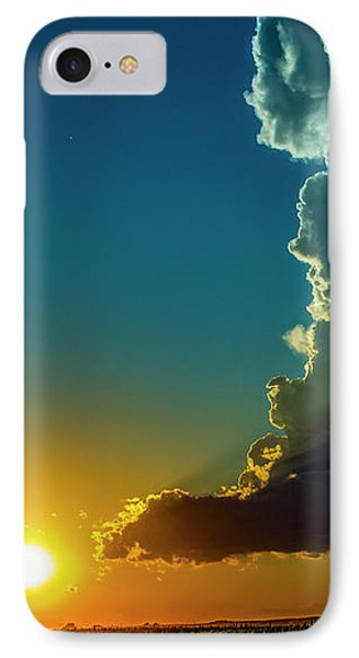 Nebraskasc iPhone 8 Case - Dying Nebraska Thunderstorms At Sunset 068 by NebraskaSC