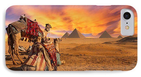 Africa iPhone 8 Case - Egypt. Cairo - Giza. General View Of by Kanuman