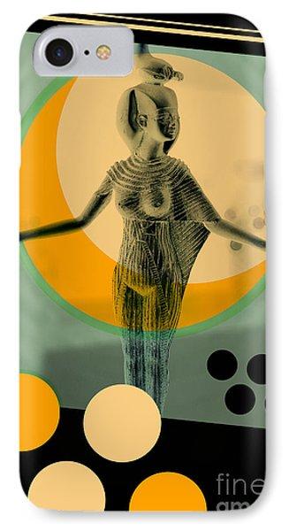 Egyptian iPhone 8 Case - Egypt Statue Retro Design Poster by Bruno Ismael Silva Alves