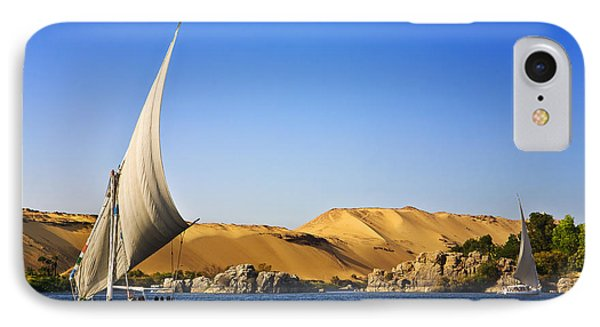 Africa iPhone 8 Case - Egypt. The Nile At Aswan by Witr