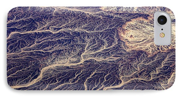 Africa iPhone 8 Case - Egyptian Desert - Aerial View by Frank Wasserfuehrer