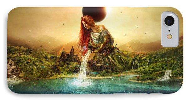 Elf iPhone 8 Case - Fountain Of Eternity by Mario Sanchez Nevado