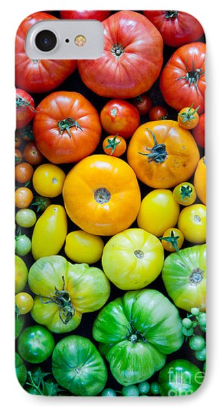 Beauty In Nature iPhone 8 Case - Fresh Heirloom Tomatoes Background by Letterberry