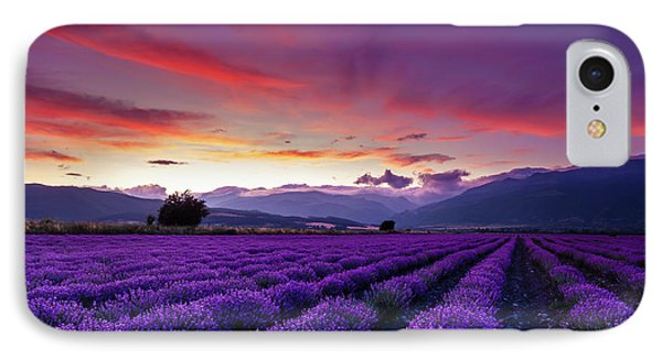 Sky iPhone 8 Case - Lavender Season by Evgeni Dinev