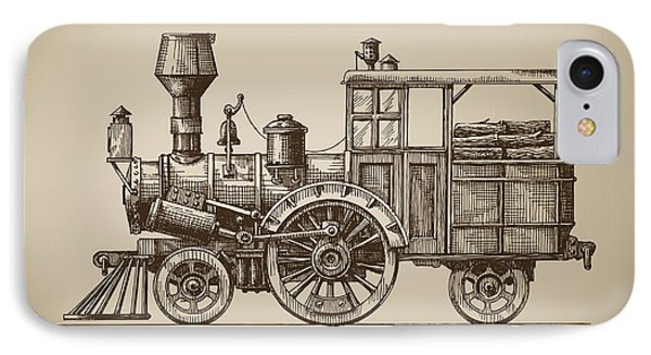 Small iPhone 8 Case - Locomotive. Vector Format by Ava Bitter