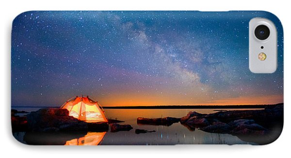 Beauty In Nature iPhone 8 Case - Long Exposure Of Stars by Oceanfishing