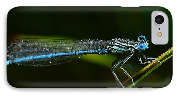 Beauty In Nature iPhone 8 Case - Macro Photography Dragonfly by Igor Chus
