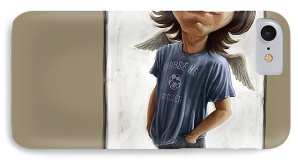 Tribute iPhone 8 Case - Malcolm Young Caricature by Andre Koekemoer