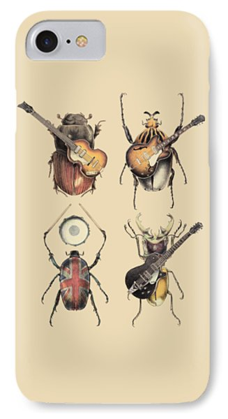 Drum iPhone 8 Case - Meet The Beetles by Eric Fan