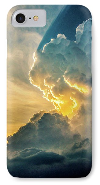 Nebraskasc iPhone 8 Case - Nebraska Sunset Thunderheads 075 by NebraskaSC