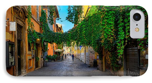 Small iPhone 8 Case - Old Street At In Trastevere, Rome by Catarina Belova