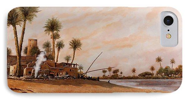 Egyptian iPhone 8 Case - Ormeggio Sul Nilo by Guido Borelli