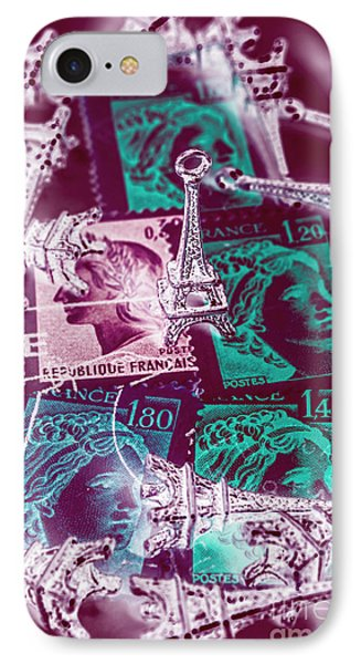 French iPhone 8 Case - Parisian Postmarks by Jorgo Photography - Wall Art Gallery