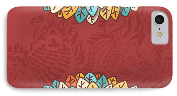 Beautiful Nature iPhone 8 Case - Pattern With Autumn Foliage Vector by Shumo4ka