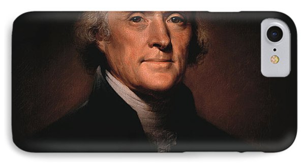 American iPhone 8 Case - President Thomas Jefferson  by War Is Hell Store