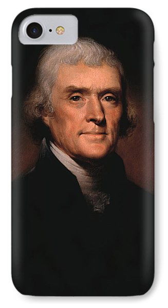 Portraits iPhone 8 Case - President Thomas Jefferson  by War Is Hell Store