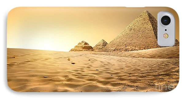 Egyptian iPhone 8 Case - Pyramids In Sand by Givaga