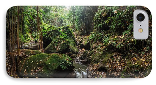 Beautiful Nature iPhone 8 Case - River In Stones Of Tropical Jungle by Dmitry Polonskiy