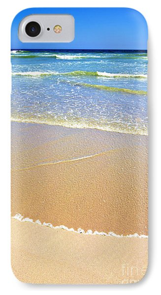 Africa iPhone 8 Case - Sandy Beach And Ocean On A Sunny Day by Johan Swanepoel