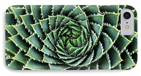 Africa iPhone 8 Case - Spiral Aloe-aloe Polyphylla by Gil.k