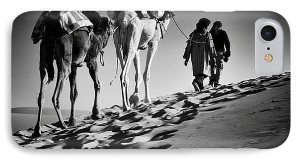 Egyptian iPhone 8 Case - Square Black & White Image Of 2 Men And by Abo Photography