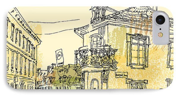 England iPhone 8 Case - Street Corner In Budapest City by Babayuka