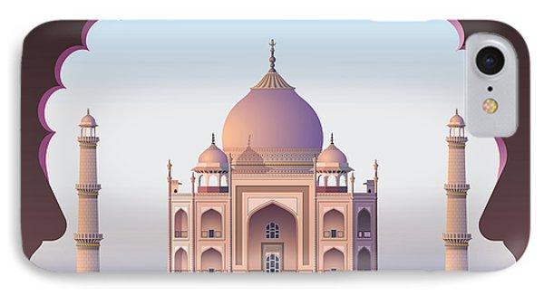 Beauty In Nature iPhone 8 Case - Taj Mahal Through The Window by Nikola Knezevic