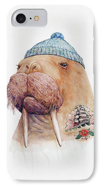 Whimsical iPhone 8 Case - Tattooed Walrus by Animal Crew
