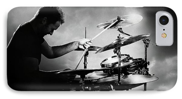 Drum iPhone 8 Case - The Drummer by Johan Swanepoel