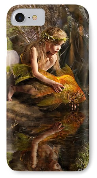 Small iPhone 8 Case - The Girl Releases A Gold Fish by Liliya Kulianionak
