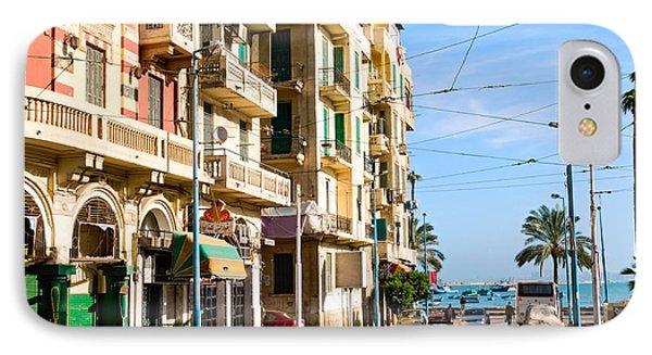 Egyptian iPhone 8 Case - The Street Of Alexandria, Egypt by Krechet