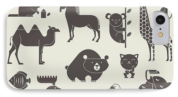 Egyptian iPhone 8 Case - Vector Animals Set by Vector Pro