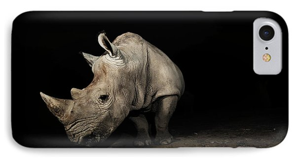 Beauty In Nature iPhone 8 Case - White Rhinoceros by Signature Message