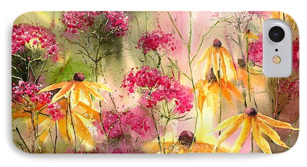 Orchid iPhone 8 Case - Yellow Ballerinas by Suzann's Art
