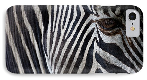 Africa iPhone 8 Case - Zebra Closeup by Aniad